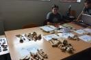 Výstava kostí zvierat, ktoré sa na hradoch konzumovali